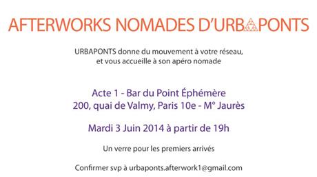 Afterworks Nomades d'Urbaponts