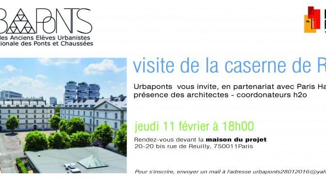 Visite de la Caserne de Reuilly jeudi 11 février