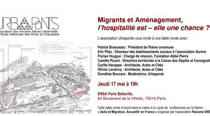A VENIR // Café Débat : «Migrants et Aménagement: l'hospitalité est-elle une  opportunité?»